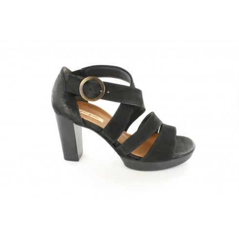 PAUL GREEN 6657-06 Black Womens Sandal