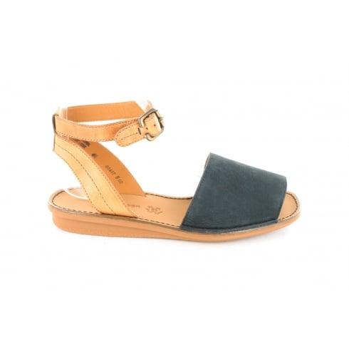 PAUL GREEN 6752-00  Navy Womens Sandal