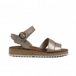 7496-02 Blush Metallic Suede Leather Womens Strapy Sandals