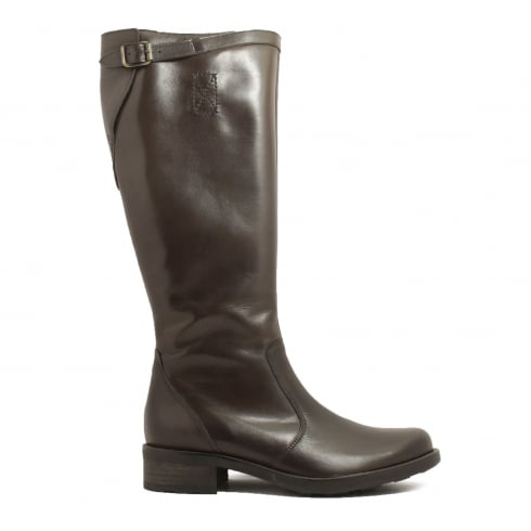 Paul Green 8105-07 Brown Leather Womens Long Leg Boot