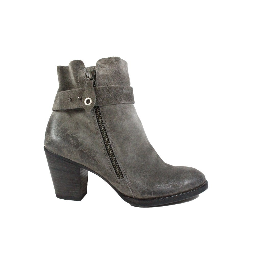 best cheap 9b592 5d9de Paul Green 8831-04 Grey Suede Leather Womens Heeled Ankle Boot - UK 5½
