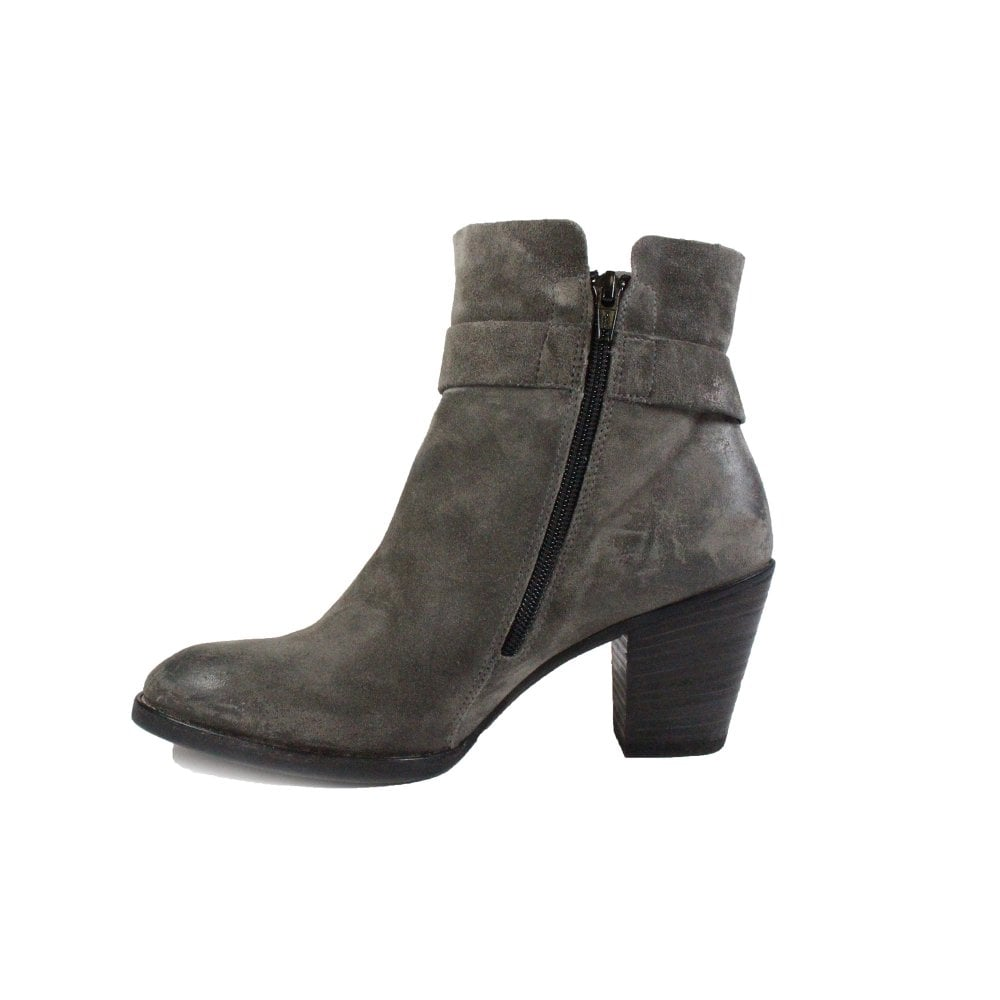 db008ac3a2d66 ... Paul Green 8831-04 Grey Suede Leather Womens Heeled Ankle Boot - UK 5½  ...