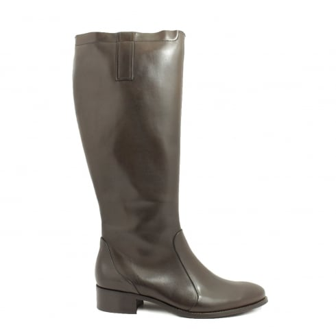 Paul Green 9049-03 Brown Leather Womens Long Leg Boot