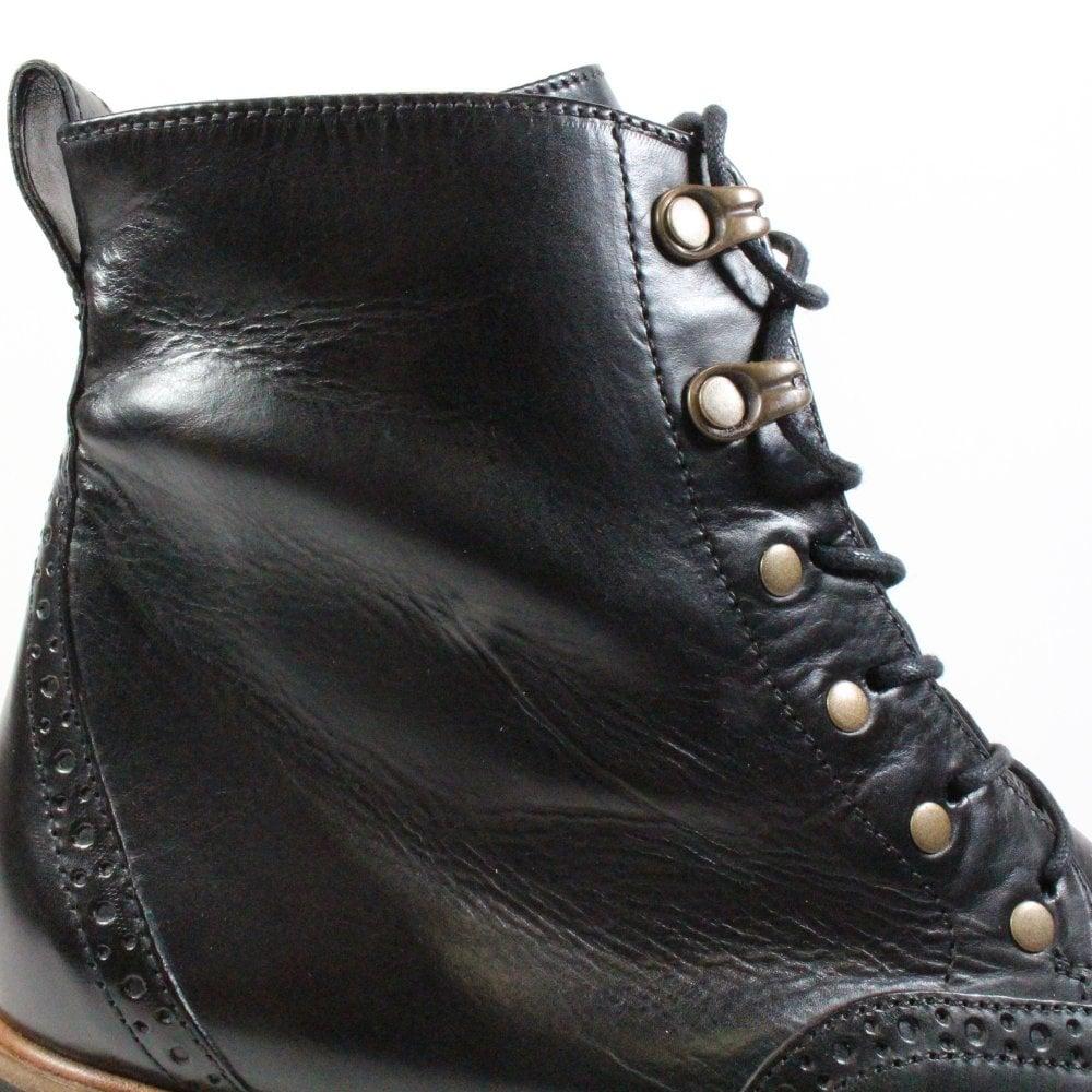 Paul Green 9644-01 Black Leather Womens