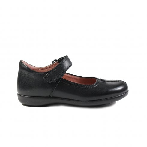 Babs 2 Black Leather Girls Mary Jane School Shoe