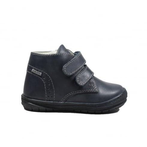 PRIMIGI Soul Navy Leather Boys Rip Tape Ankle Boot