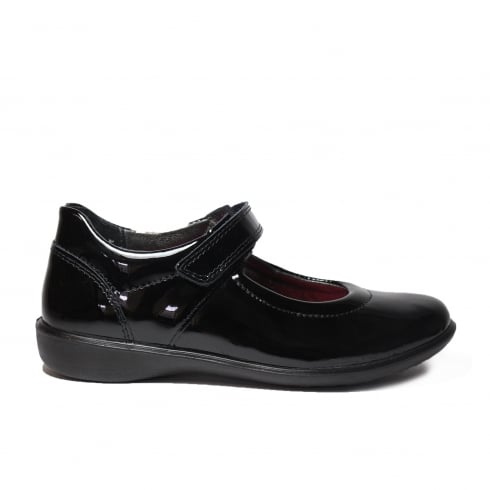 RICOSTA Beth Black Patent Girls Shoe