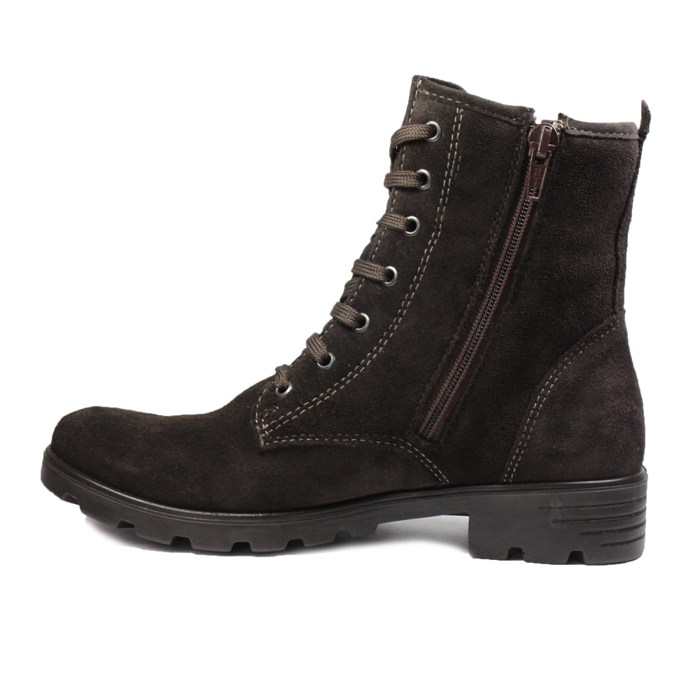 1d37bc36cea0 ... Ricosta Disera Brown Suede Leather Girls Winter Lace Up Ankle Boots ...