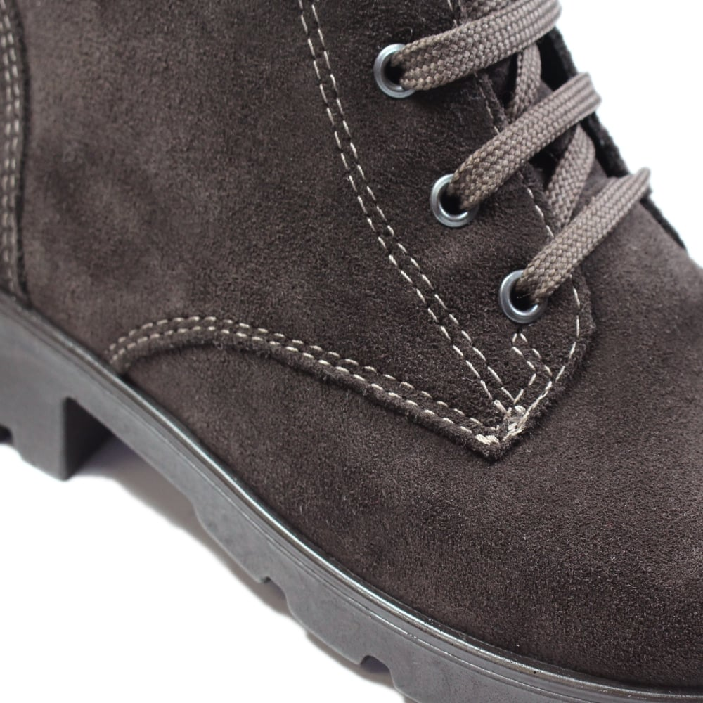 fb0d6e389368 ... Ricosta Disera Brown Suede Leather Girls Winter Lace Up Ankle Boots