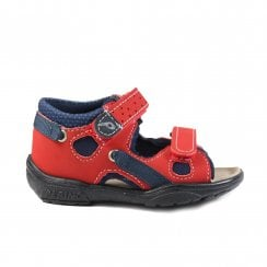 Gippy Red Boys Closed Back/Open Toe Sandal