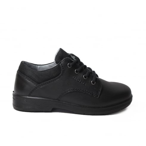 Ricosta Harry Wide Fit Black Leather Boys Lace Up School Shoe