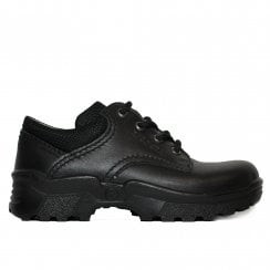 Joe 76330 Black Leather Boys Lace Up School Shoes