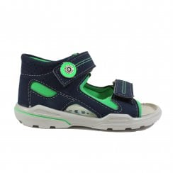 ca80800f72d8 Manti 3221500-555 Navy Green Boys Closed Back Sandals