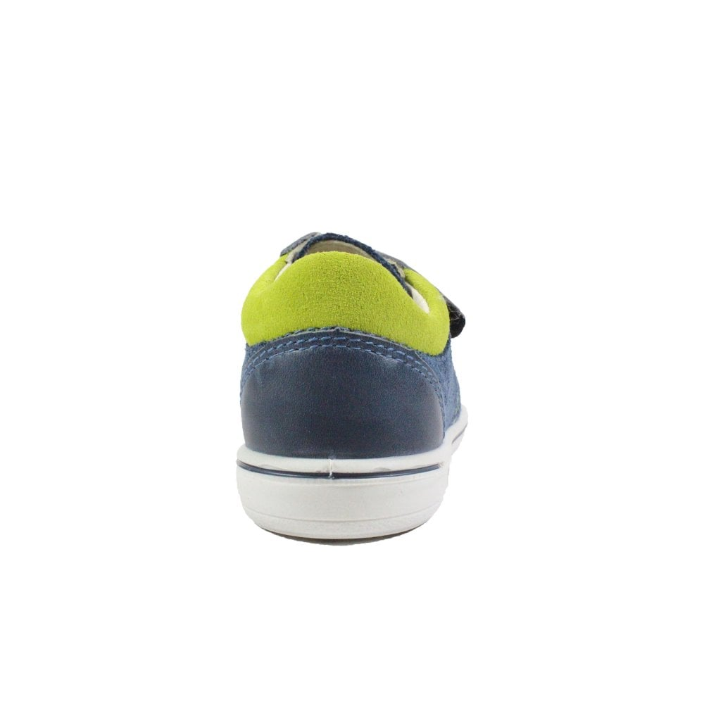 Ricosta Nippy 2623000-181 See Navy Leather Boys Rip Tape Shoes