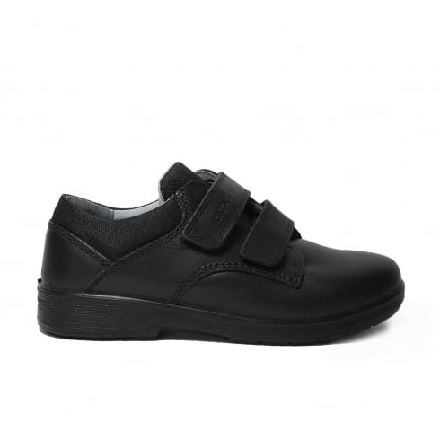 RICOSTA William Wide Fit Black Boys Shoe