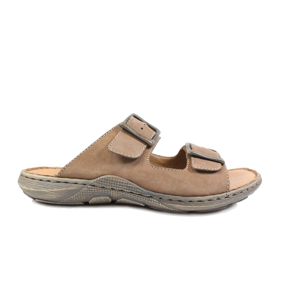 22056 24 Men's Brown Sandals
