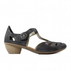 43750-45 Grey Womens Summer Rip Tape Shoes