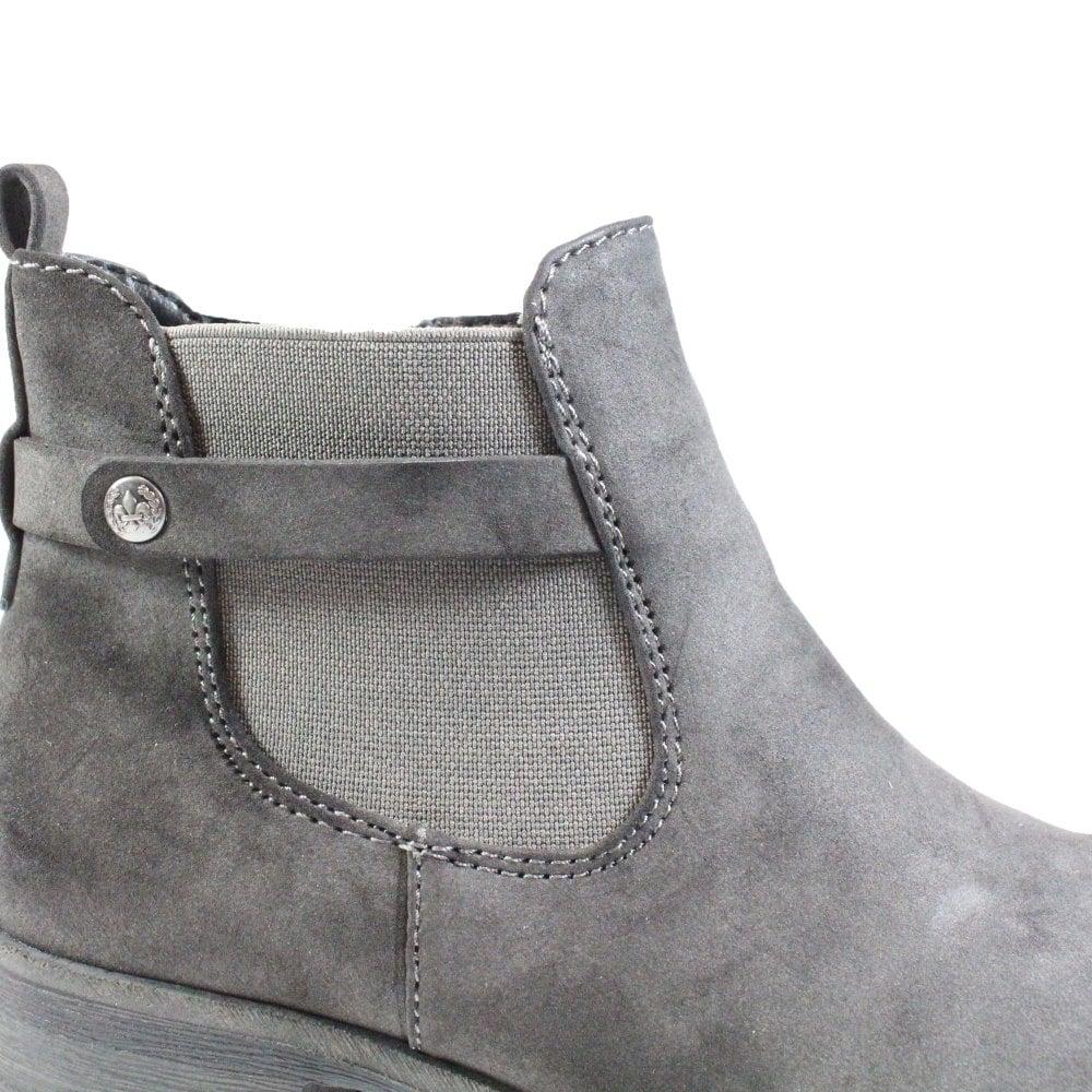 Rieker Melinda 96864 64 Grey Womens Zip Up Chelsea Boots