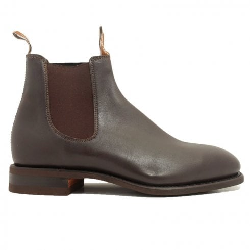 Craftsman H Width Rubber Sole Chestnut Leather Mens Pull On Chelsea Boots