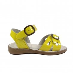 Marella  Yellow Patent Leather Girls Adjustable Sandals