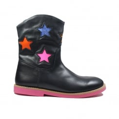S17W074C Navy Girls Boots