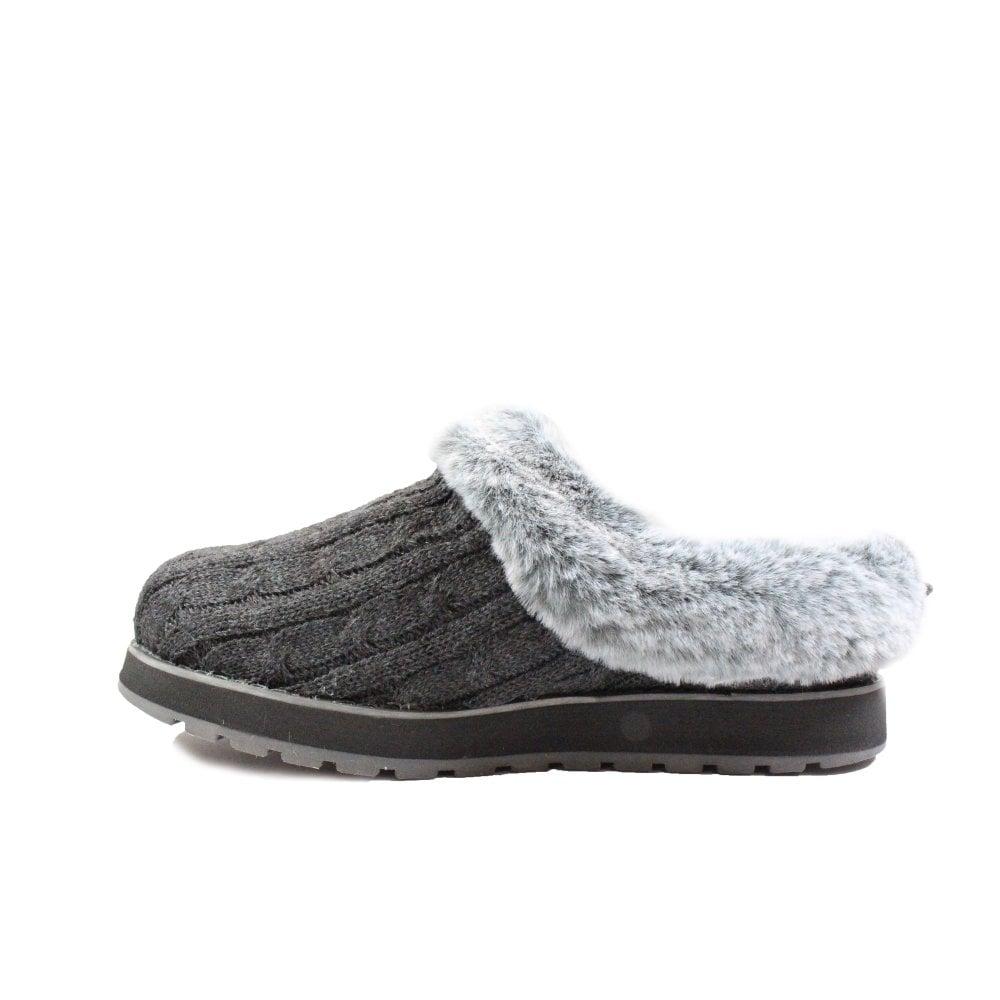 Skechers BOBS KEEPSAKES ICE STORM Ladies Womens Slip On Mule Slippers Black