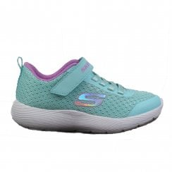 Dyna-Lite 83070L Aqua Mesh Girls Bungee Lace/Rip Tape Trainers