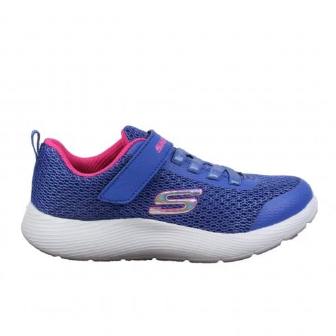039a6f99fa2 Skechers Dyna-Lite 83070L Blue Mesh Girls Bungee Lace Rip Tape Trainers -  Skechers from North Shoes UK