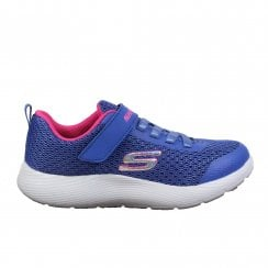 Dyna-Lite 83070L Blue Mesh Girls Bungee Lace/Rip Tape Trainers