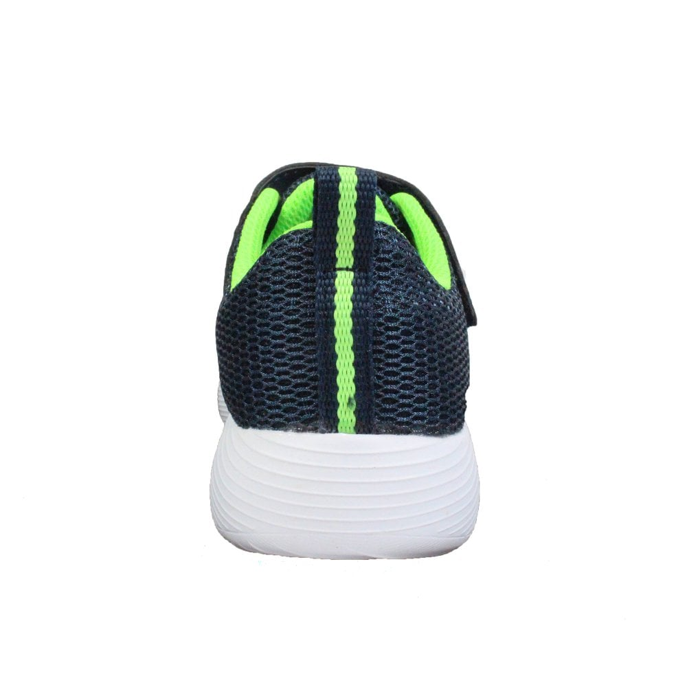 b8dff2b2f975 ... Skechers Dyna-Lite 98120L Navy Mesh Boys Bungee Lace Rip Tape Trainers  ...