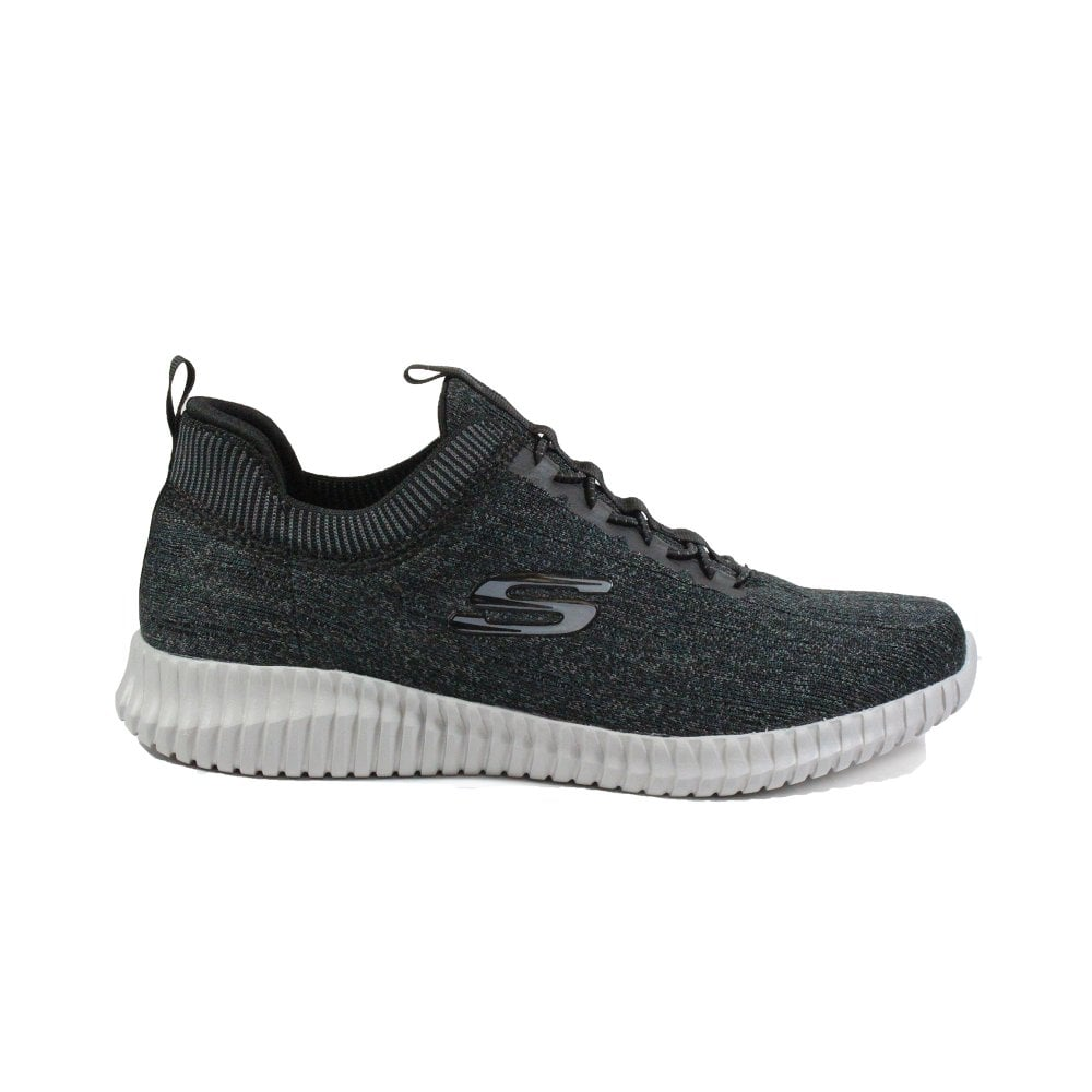 world-wide renown hot-selling official novel style Skechers Elite Flex - Hartnell 52642 Black Knitted Mesh Mens Bungee Lace  Trainers