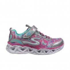 S Lights: Heart Lights 20180L Multi Coloured Girls Light Up Trainers