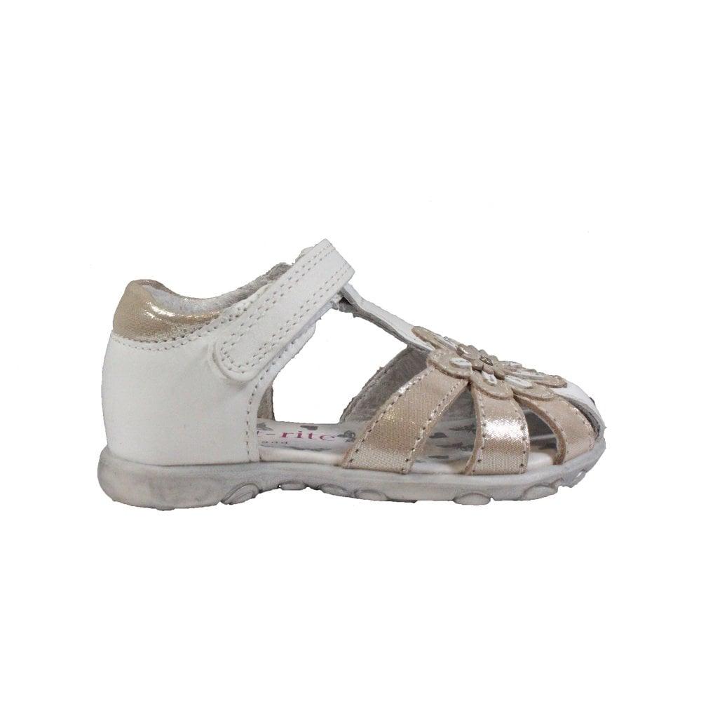 Startrite Primrose White/Silver Leather