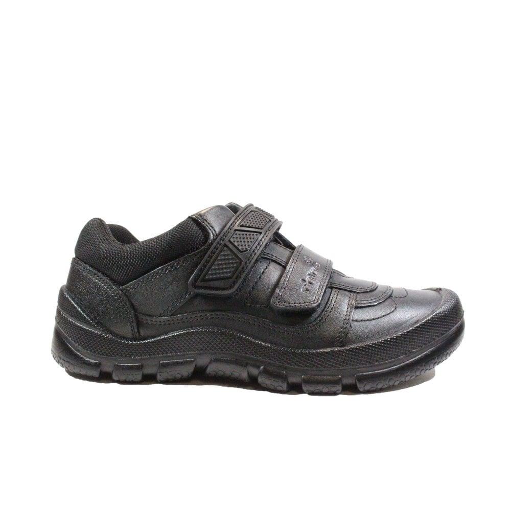 Boys Startrite Rhino School Shoes In Black Leather /'Dylan/' F Width Fitting
