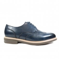 George Navy Leather Mens Lace Up Smart Shoes