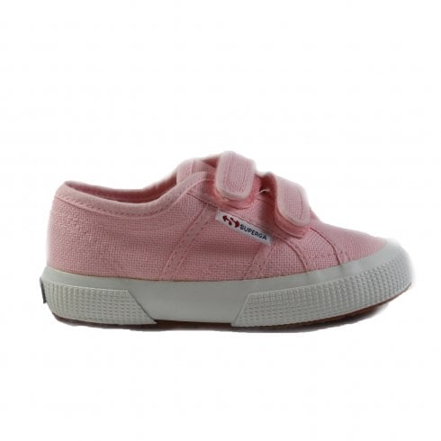 Superga COTJ Strap Canvas Classic Riptape Pink Unisex Shoes