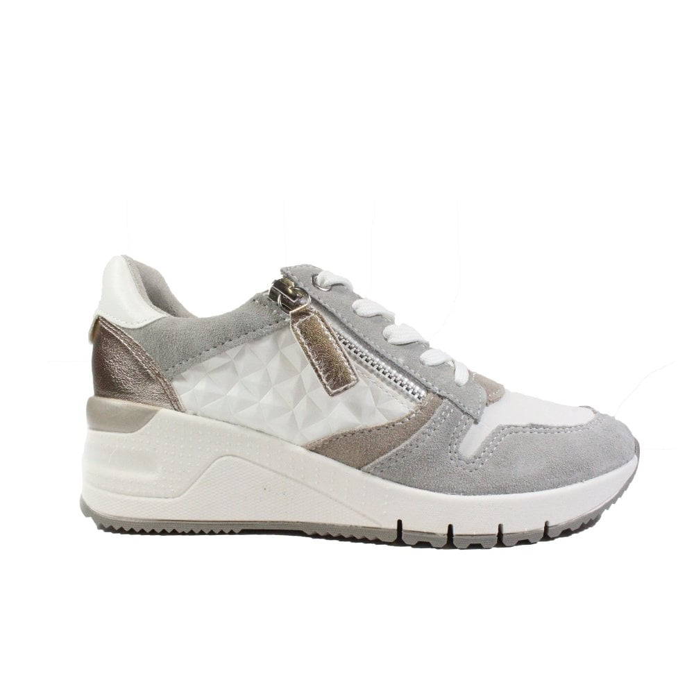 Tamaris 23702 White Leather Womens Lace
