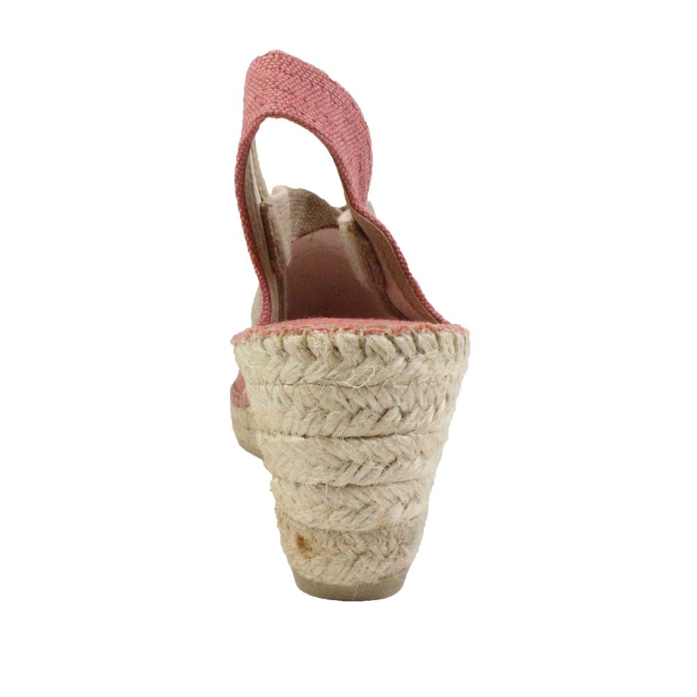 fa0f19bff0d18 Breda-V Blush Pink Textile Womens Pull On Espadrille Sandals